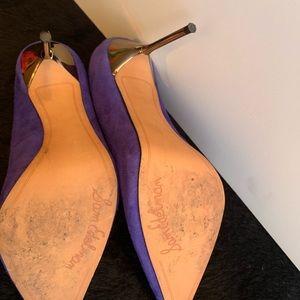 Sam Edelman Shoes - Sam Edelman suede Purple heels